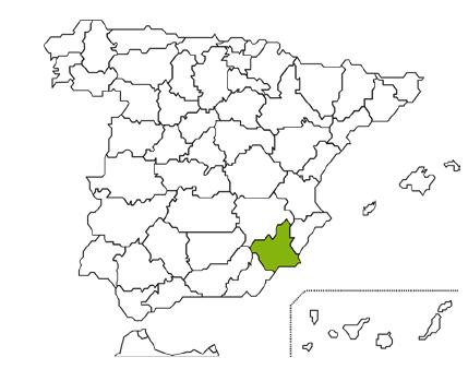 Mapa Caja Rural Regional San Agustín de Fuente Álamo Murcia