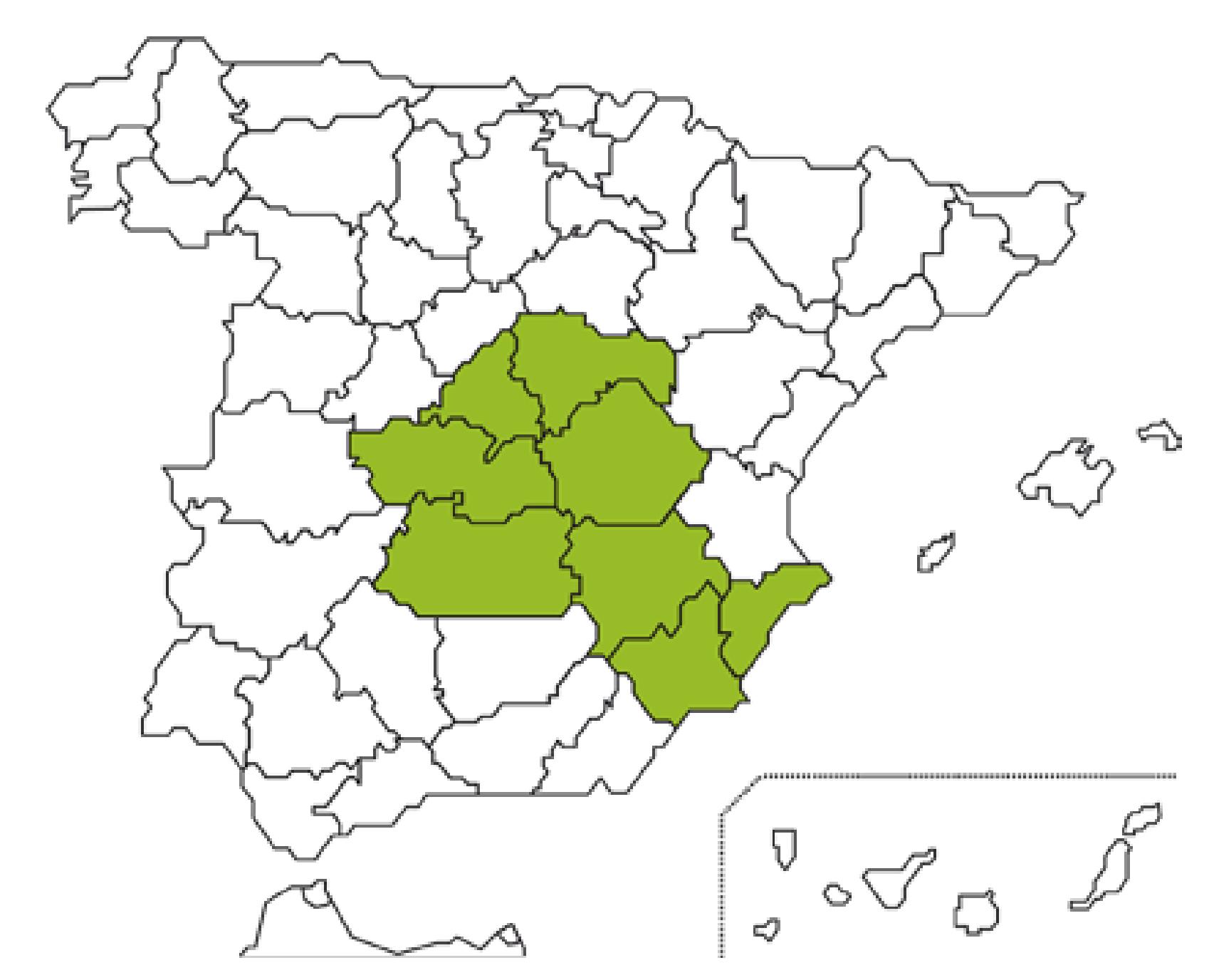 Mapa Caja Rural Albacete, Ciudad Real y Cuenca