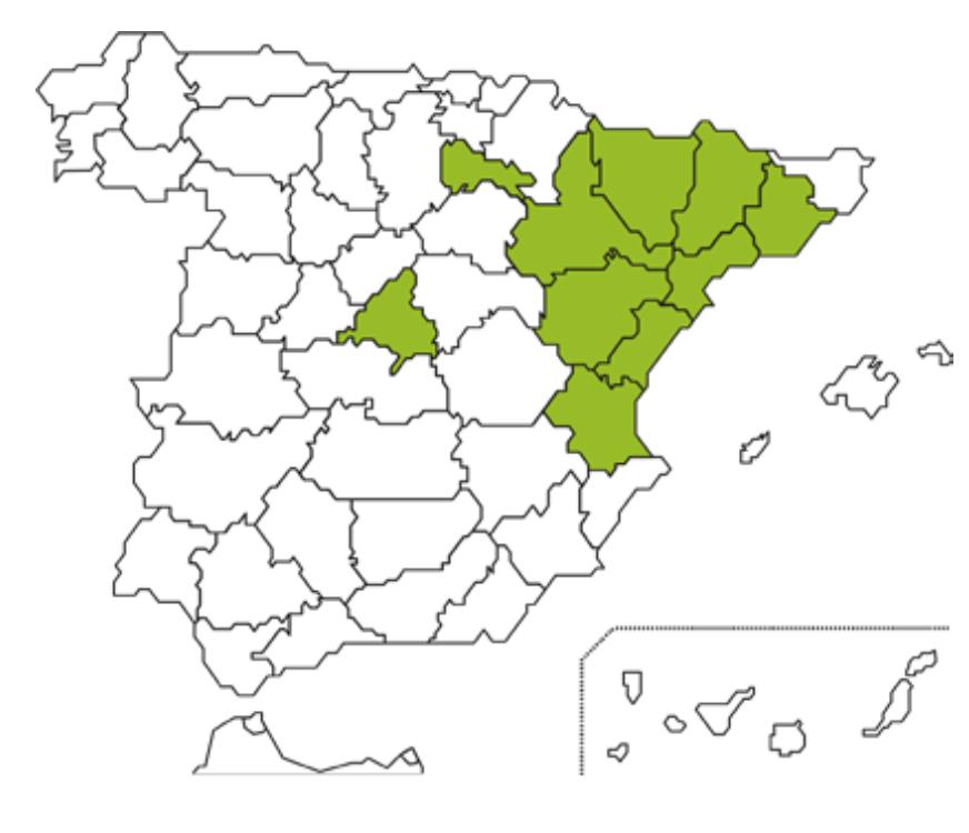 Mapa Caja Rural Aragón