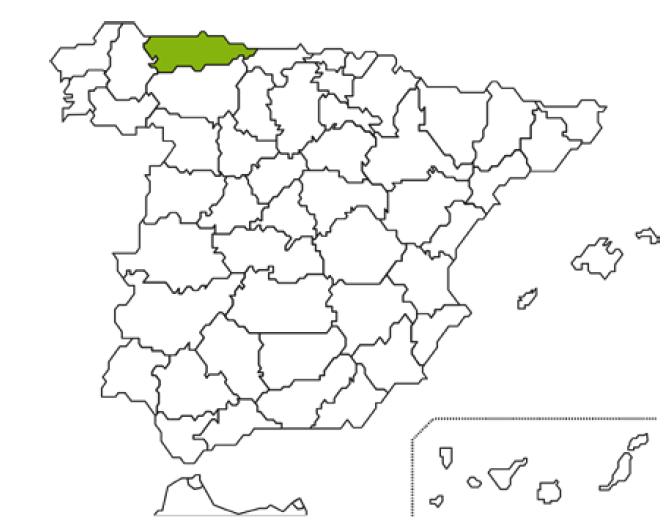 Mapa Caja Rural Asturias