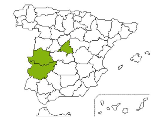 mapa caja rural Extremadura